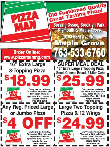 Pizza man crystal coupons