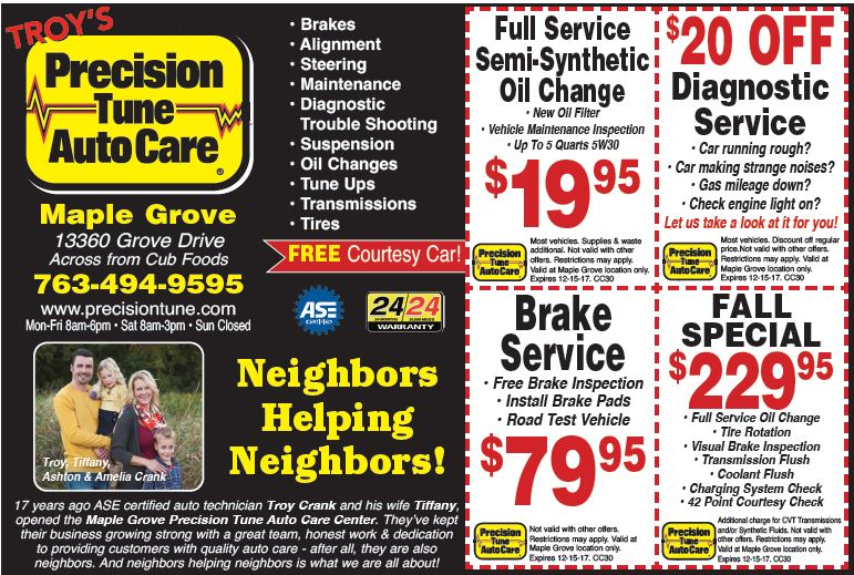 Precision tune discount coupons